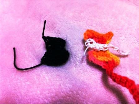 黒猫とさび猫