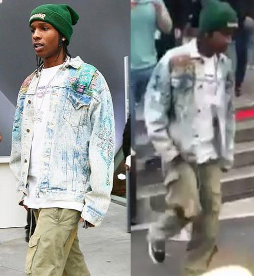エイサップ・ロッキー(A$AP Rocky):ゲス(Guess)/スラッシャー(THRASHER)/バンズ(Vans)
