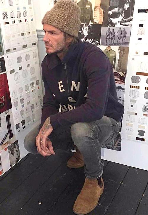 デヴィッド・ベッカム(David Beckham):ケント・アンド・カーウェン(Kent And Curwen)/サンローラン(Saint Laurent)