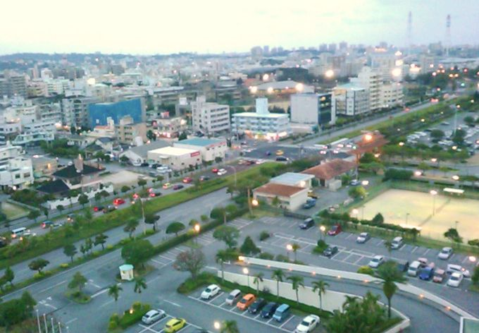 街側はグアムにそっくりです
