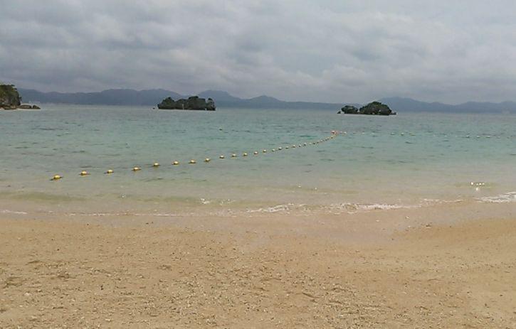 2日目の海も寒いです