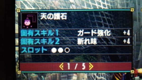 ブレイヴガンス非匠用ガ強 04 使用護石