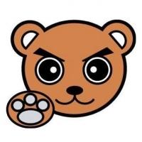 熊谷俊人氏のクマのエンブレム