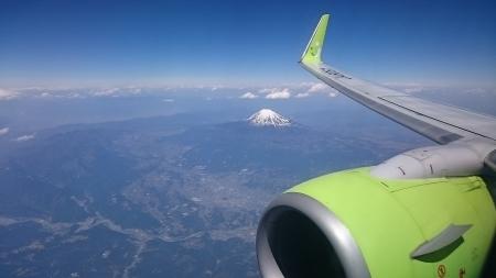 ソラシドエアから見る富士山