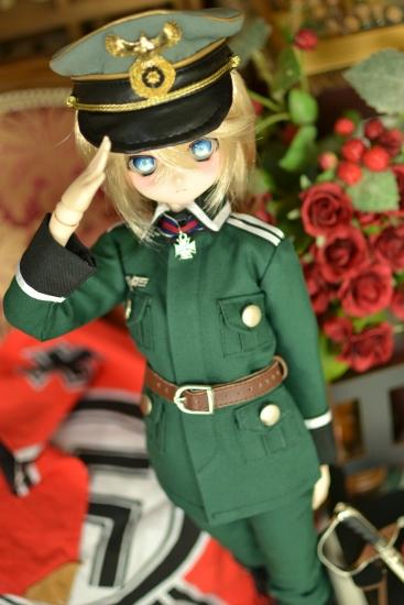 ターニャ・デグレチャフ少佐っぽいドール野戦服ver01-1
