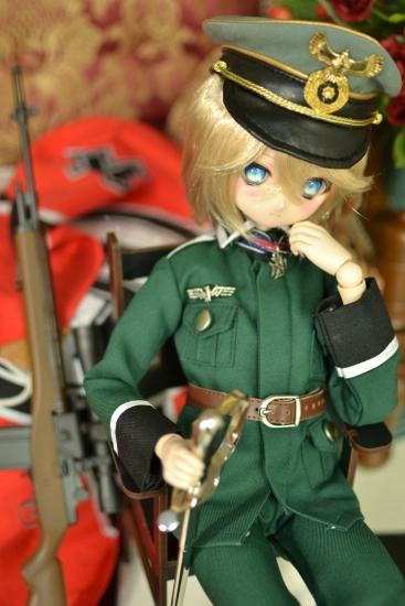 ターニャ・デグレチャフ少佐っぽいドール野戦服ver01-2