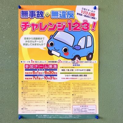 平成29年度 チャレンジ123!ポスター