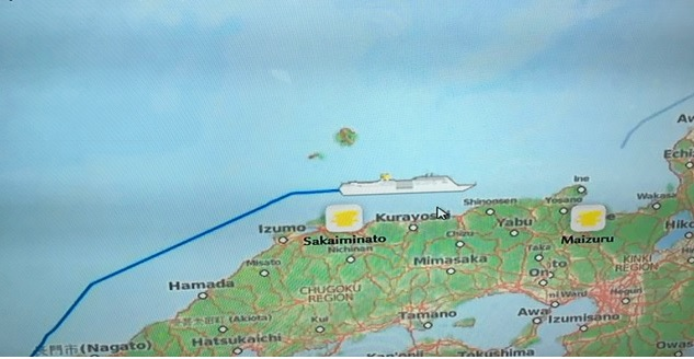 6月30日 御神事 福岡博多港から舞鶴へ移動中