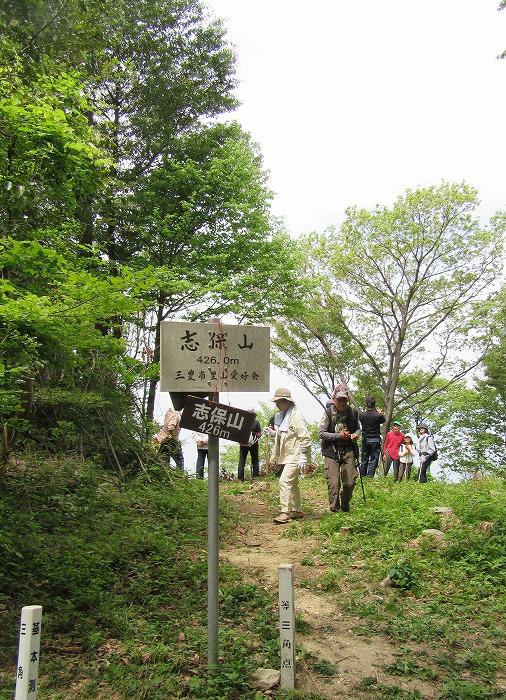 志保山頂上 426m 29.5.3