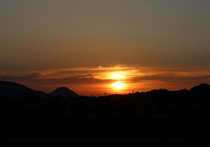 ダルマかと思った夕陽 29.5.13