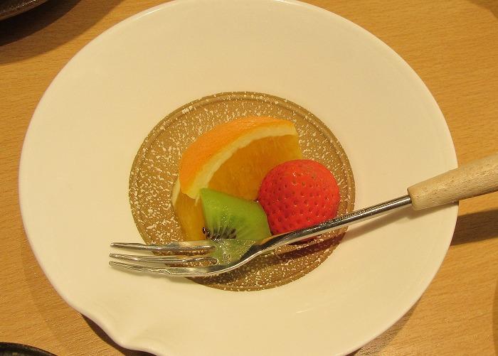 錬成会夕食デザート 29.5.20