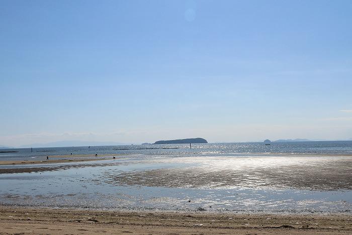 有明浜から、伊吹島を望む 29.5.27