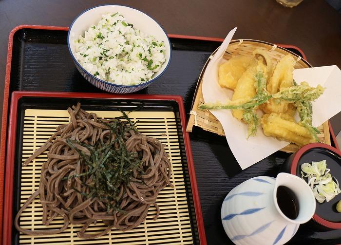 天ぷら蕎麦と菜飯 29.6.10