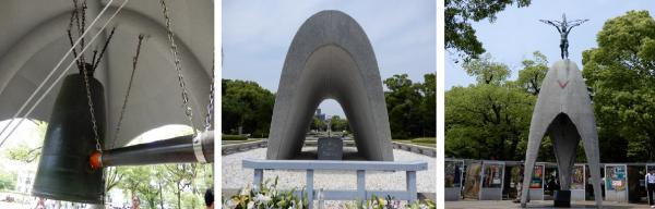 平和の鐘&原爆死没者慰霊碑&原爆の子の像