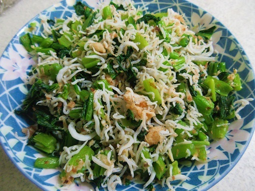 170618-221小松菜のしらすおかか和え(S)