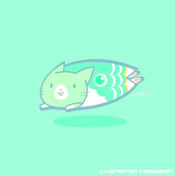 こいのぼり猫イラスト