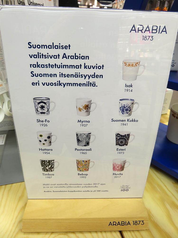 フィンランド アラビア Suomi 100 マグカップ