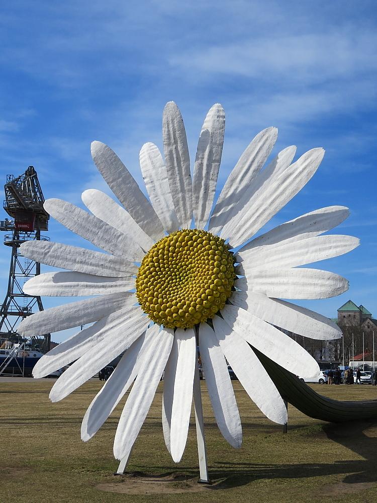 フィンランド トゥルク フォーラム・マリナム海洋センター 花のオブジェ