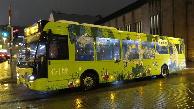 フィンランド ヘルシンキHelsinki 動物園バス Zooバス