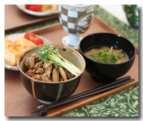 豚ごぼう金平丼