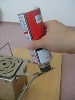 ポリhotガス缶取り付け10