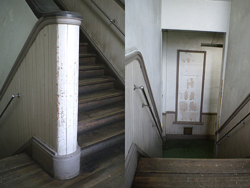 旧岡谷市役所・階段①