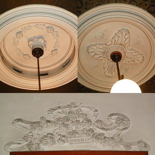 旧林家住宅・漆喰彫刻