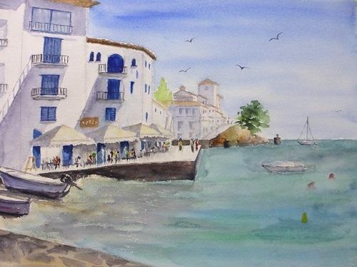 カダケス海辺のレストラン