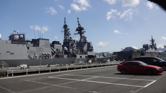 イージス艦と護衛艦ひゅうが