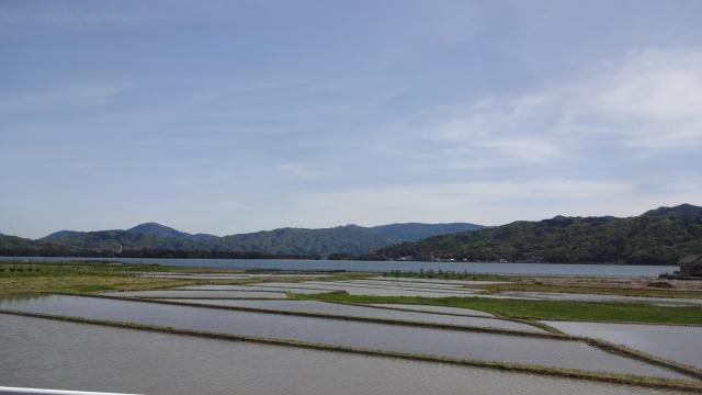 田園と阿蘇海