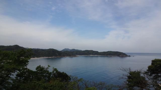 鳥取側の海岸線