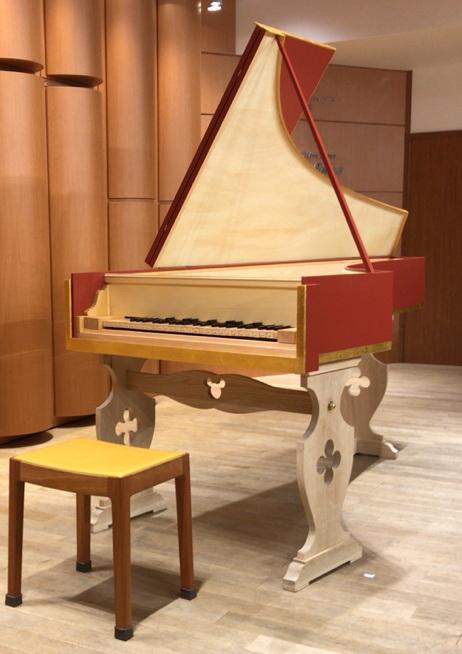 分割鍵盤のチェンバロ