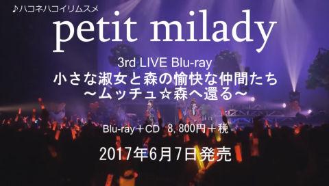 petit milady - 「3rd LIVE 小さな淑女と森の愉快な仲間たち ~ムッチュ☆森へ還る~」6月7日発売Blu-ray ダイジェスト映像 #petitmilady #プチミレ