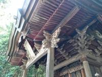 稲倉穂見神社 彫刻と組み物