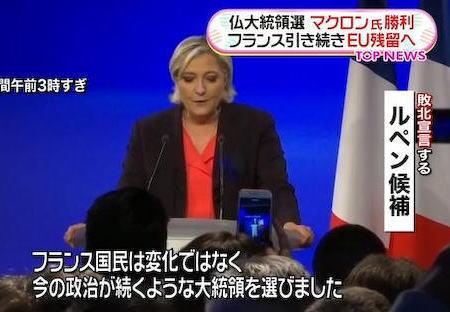 フランス 大統領選 マクロン ルペン 決選投票 移民 EU