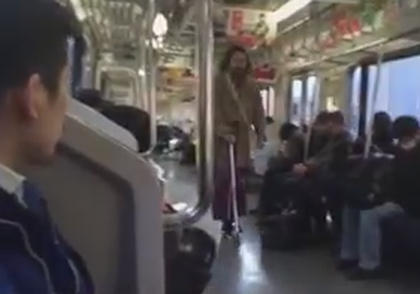JR湘南新宿ライン キックボード 軽犯罪法違反