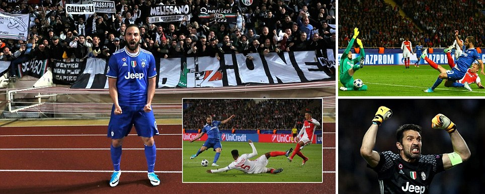 Monaco 0-2 Juventus Higuain nets stunning brace as Italian giants take huge stride into Champions League final with two away goals
