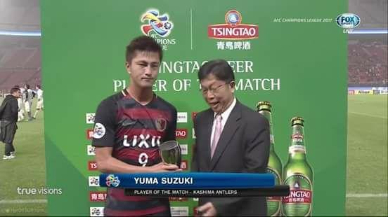 Yuma Suzuki man of the match agaisnt Muangthong United