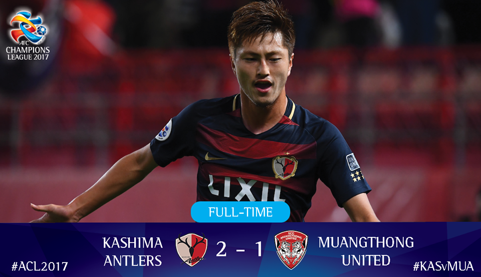 Yuma Suzuki's doubles secures victory and top spot in Group E for Kashima Antlers FC