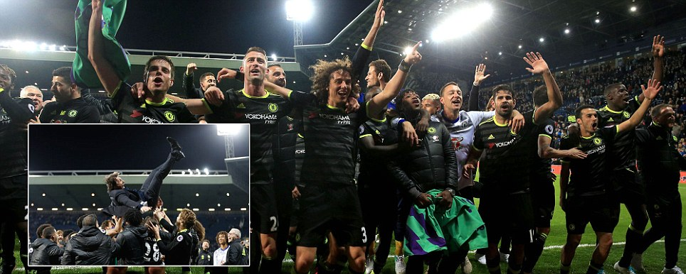 Chelsea crowned Premier League champions as unlikely hero Batshuayi comes off bench to score winner against West Brom