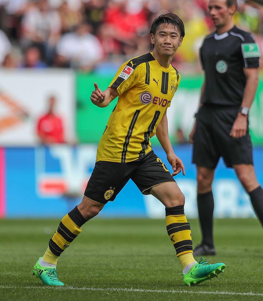kagawa assists agaist Augsburg 2017 1-1