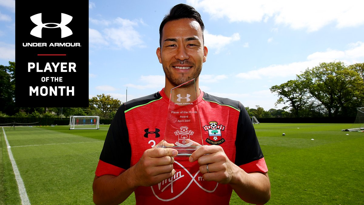 Your #SaintsFC @UnderArmour Player of the Month for April is MayaYoshida3! 🙌