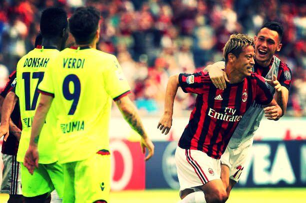 Perayaan Goal Keisuke Honda