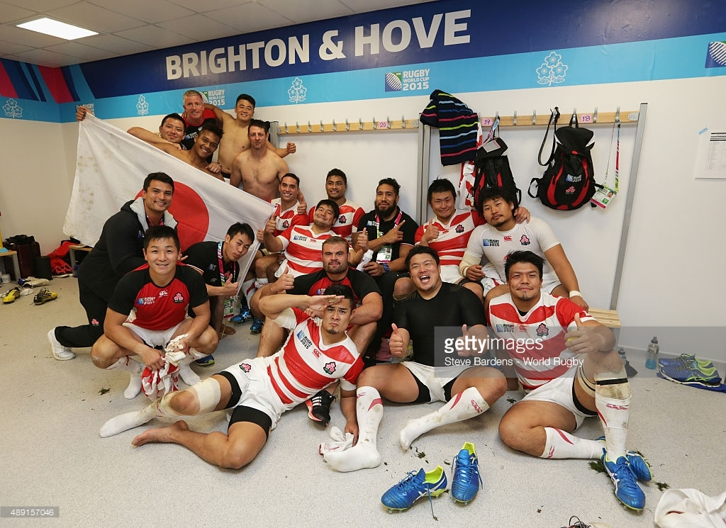 Japan pulled off the biggest shock in Rugby World Cup history with a stunning 34-32 win over South Africa at the Amex Stadium in Brighton