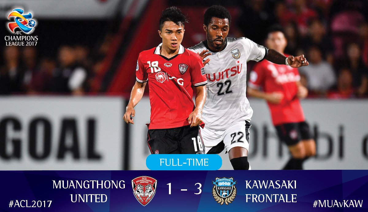 frontale_staff come from behind to defeat @MuangthongUtd and take a huge step towards the #ACL2017 quarter-finals