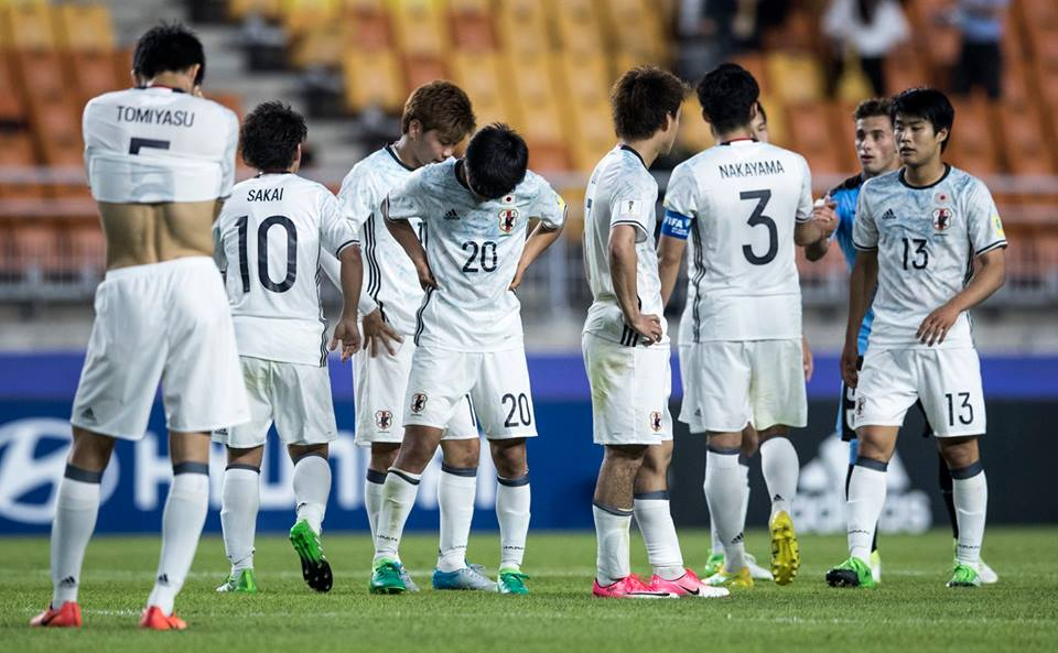 Players of Japan are looking dejected 2017 u20wc Uruguay