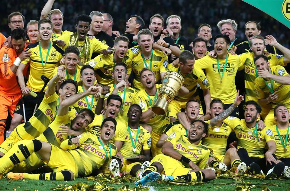 Were the 2017 DFB CUP WINNERS!Frankfurt 1_2 BVB kagawa