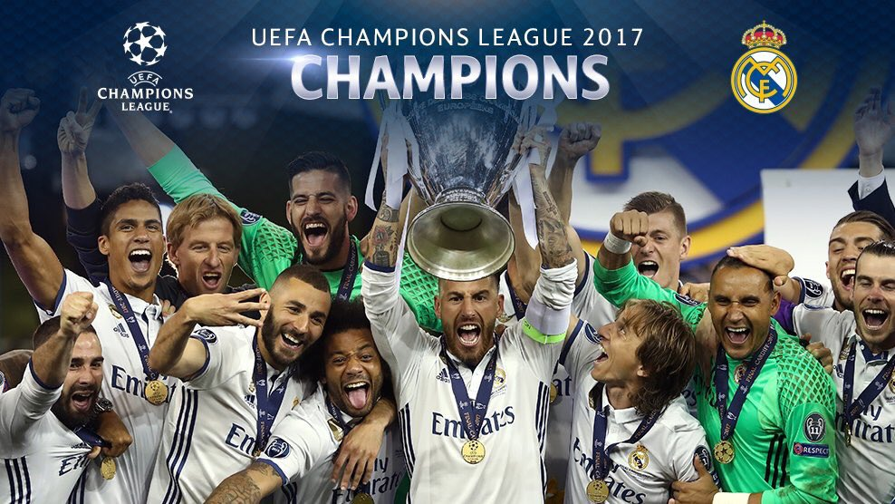 Real Madrid has won the 201617 Champions League