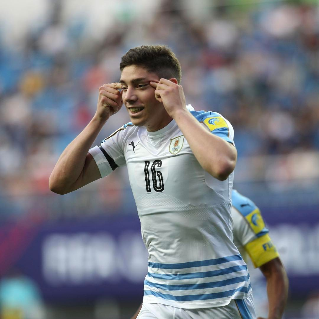 Uruguay U-20 midfielder Federico Valverde is accused of making a racist gesture following his goal against Portugal