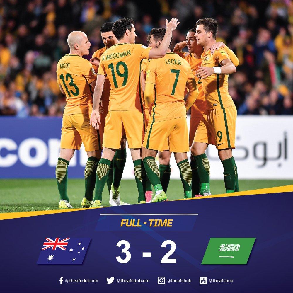 Australia 3_2 Saudi Arabia All three points to Australia as they edge Saudi Arabia